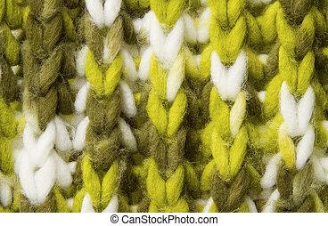 woolen, kötött, struktúra, háttér