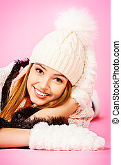 woolen mittens and hat