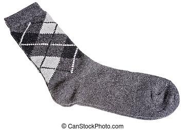 woolen, padrão, morno, meias, diamantes