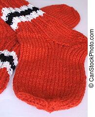 woolen socks, hand-knitted