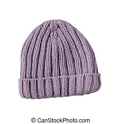 woolen winter hat isolated on white background