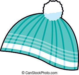Vector illustration of fashionable winter headwear.
