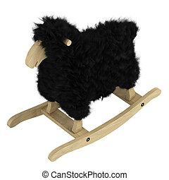 Woolly sheep wooden toy