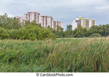 woongebied, berlin, moderne architectuur