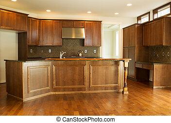 woongebied, moderne, keuken