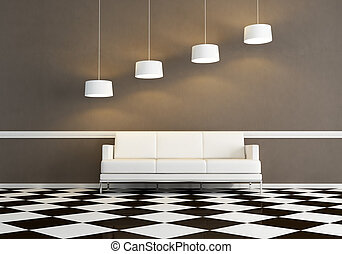 woonkamer, sofa, witte , minimaal, weefsel