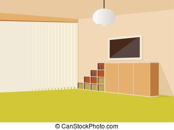 woonkamer, vector, illustration.