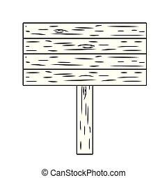 woooden sign cartoon