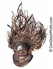 vintage african mask - woooden vintage african mask with...