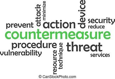 woord, countermeasure, -, wolk