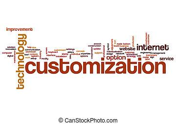 woord, customization, wolk