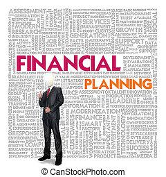 woord, handel concept, planning, financieel, wolk