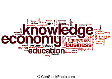 woord, kennis, wolk, economie