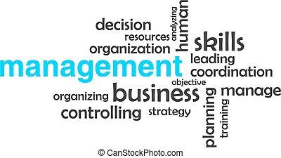 woord, management, -, wolk