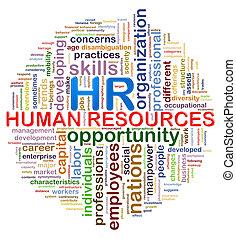 woord, markeringen, hr, wordcloud, ontwerp, menselijke hulpbronnen, circulaire