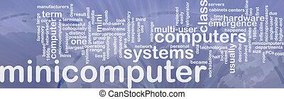 woord, minicomputer, wolk