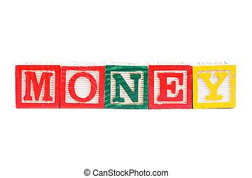 """woord, """"money"""""""