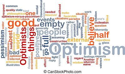 woord, optimisme, wolk