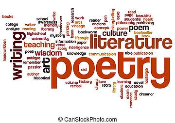woord, poëzie, wolk