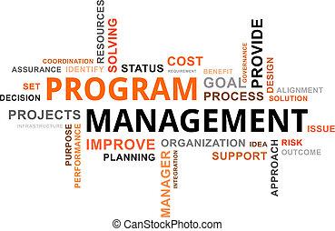 woord, programma, -, wolk, management