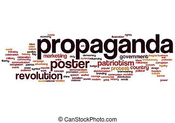 woord, propaganda, wolk