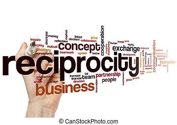 woord, reciprocity, wolk