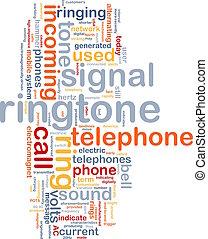 woord, ringtone, wolk