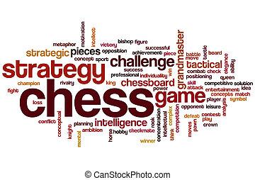 woord, schaakspel, wolk