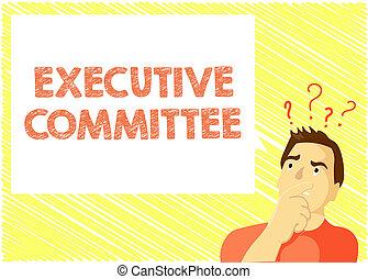 woord, schrijvende , tekst, uitvoerend, committee., handel...