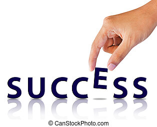 woord, succes, hand
