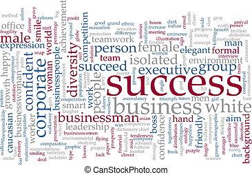woord, succes, wolk