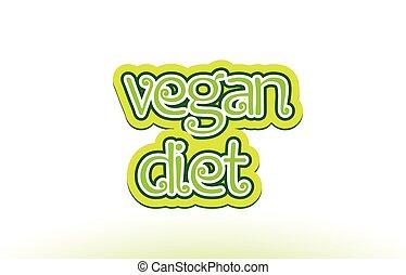 woord, tekst, typografie, dieet, ontwerp, vegan, logo, pictogram
