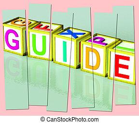 woord, tonen, raad, aanbevelingen, gids, hulp