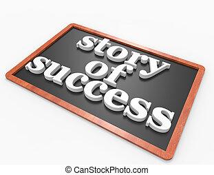 woord, verhaal, blackboar, succes