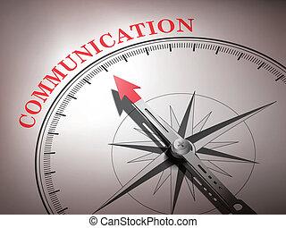 woord, wijzende, communicatie, abstract, naald, kompas