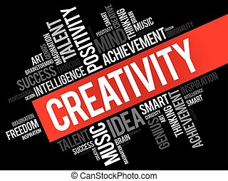 woord, wolk, creativiteit