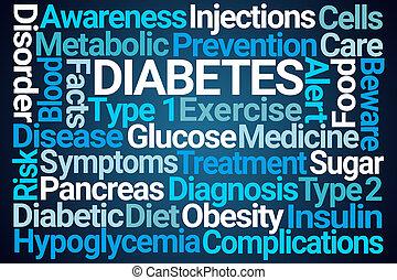 woord, wolk, diabetes