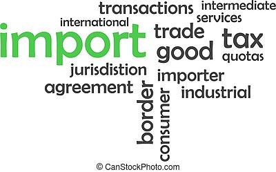 woord, -, wolk, import