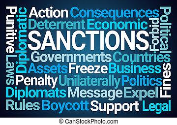 woord, wolk, sanctie