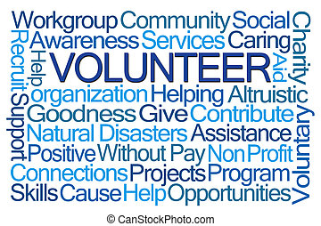 woord, wolk, vrijwilliger
