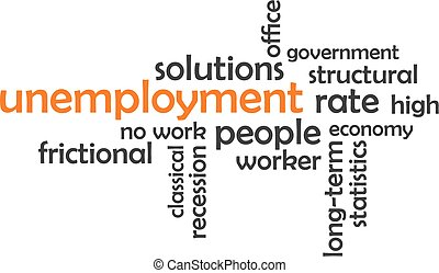 woord, wolk, -, werkloosheid