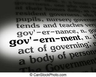 woordenboek, regering