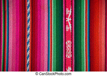 Wooven Wool Boliva traditional Fabric Background colourful...