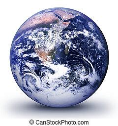 Wor Ld Glo Be Realist - World globe - world illustration. ...