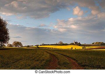 Worcestershire farmland, England