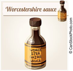 Worcestershire sauce. Detailed Vector Icon