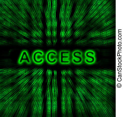 word Access on digital background