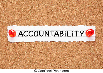 Word Accountability Cork Bulletin Board Concept - The word ...