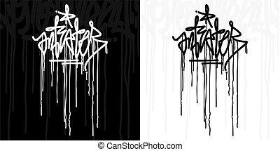 Word Anteater Hip Hop Hand Written Graffiti Style Typography Vector Illustration Art