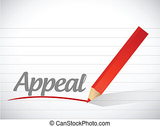word appeal written on a white piece of paper